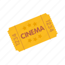 admission, cinema, entertainment, movie, ticket icon