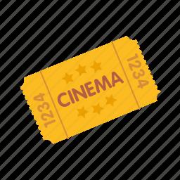 admission, cinema, entertainment, movie, ticket icon