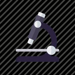 biology, education, equipment, microscope, school, sciences icon