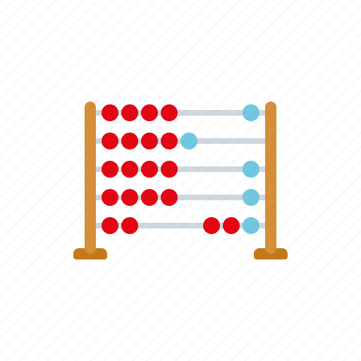 abacus, arithmetics, calculating, calculator, education, mathematics, school icon