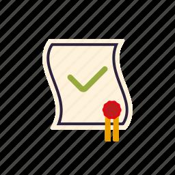 certificate, degree, diploma, education, graduation, school icon