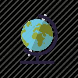 earth, education, geography, globe, map, school, world icon