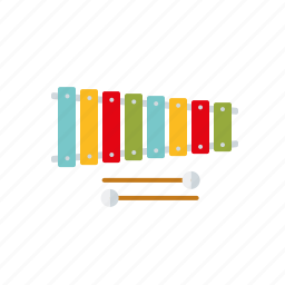education, instrument, lessons, music, school, xylophone icon