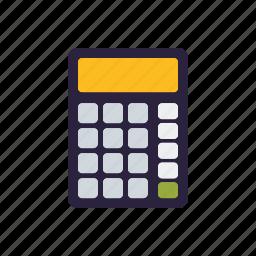 arithmetics, calculator, education, mathematics, school icon