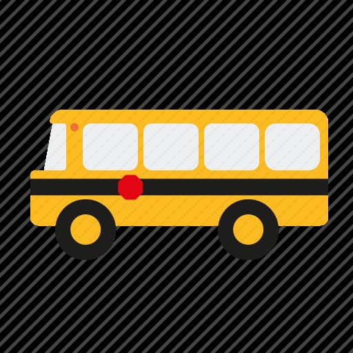 education, elementary, school, school bus, traffic, transportation icon