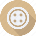 accessories, button, circular, cloth, clothing, man, woman icon