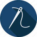 accessories, cloth, clothes, clothing, man, needle, woman icon