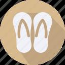 accessories, cloth, clothes, man, slip, slop, woman icon