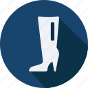 accessories, boots, cloth, heel, high, man, woman icon