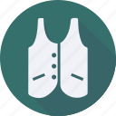 accessories, cloth, clothes, clothing, man, vest, woman icon