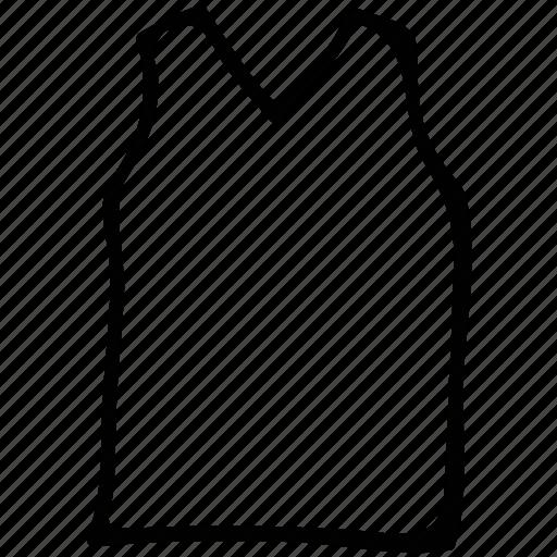 casual, male, reflective, v-neck, vest icon