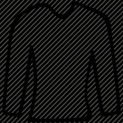 crew neck, plain round, round- neck, shirt icon