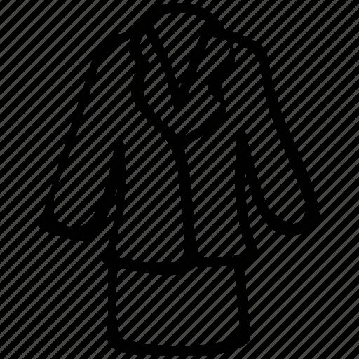 peplum, skirt, stretchy, women, work icon