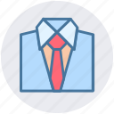 clothes, formal clothes, shirt, shirt and tie, shirt with tie, tie icon