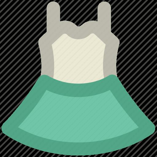 day dress, frock, summer clothing, sundress, tea dress, woman dress icon
