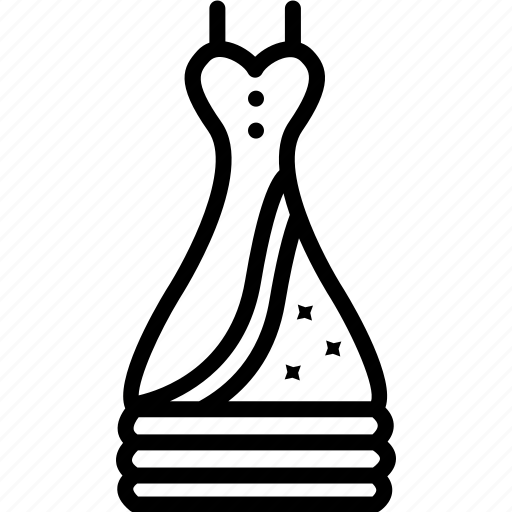 cloth, dress, fashion, fashionable, fashionable dress, female, motif icon