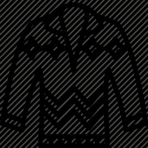 cardigan, dress, jumper, pullove, sweater icon