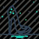 female, footwear, heels, high heels, sandal, shoes icon