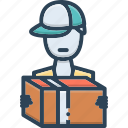 dealer, delivery, delivery man, man, occupation icon