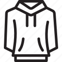 clothes, clothing, fashion, hoodie, style, sweatshirt icon