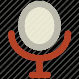 beauty salon mirror, beauty table, mirror, mirror table, pedestal mirror icon