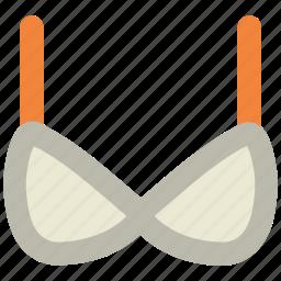 bra, brasserie, garments, underclothes, undergarments, women's clothing icon