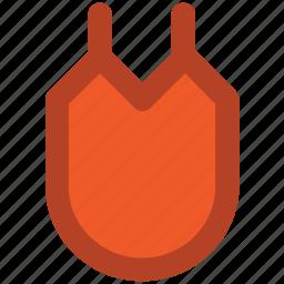 apron, apron bib, chef uniform, cooking apparel, front apron, kitchen wear, protective icon
