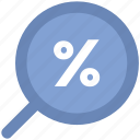 discount offer, low percentage, percentage, percentage ratio icon