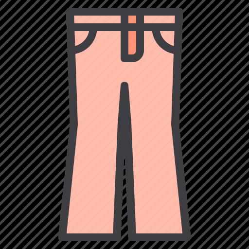 clean, clothes, fashion, garment, long, pants icon