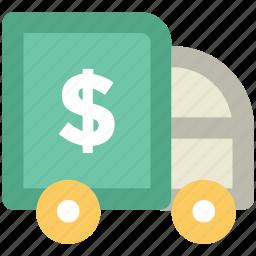 delivery car, delivery van, pick up van, van, vehicle icon