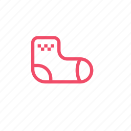 baby, clothes, foot, home, sock icon