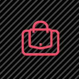 accessory, bag, fashion, handbag, purse, style, valise icon