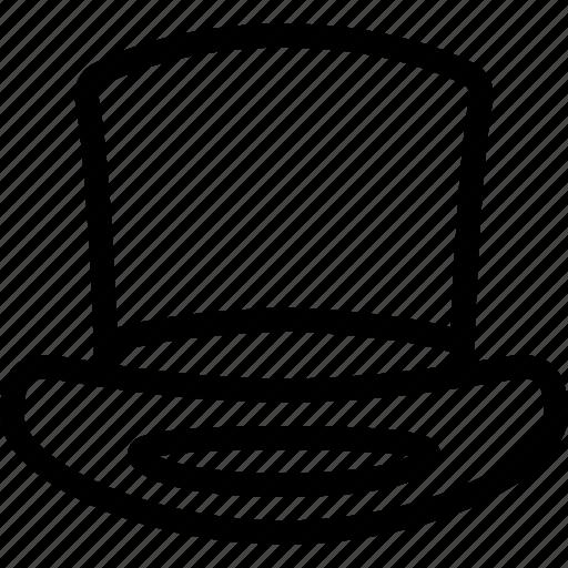 cap, cylinder, fashion, hat, head icon