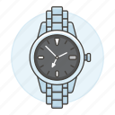 3, accessory, analog, clothes, metal, watch, wristwatch icon