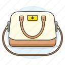 accessory, bags, beige, brown, clothes, designer, handbag, purse, small, yellow icon