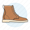 1, accessory, boots, brown, clothes, footwear, shoes, short, suede icon