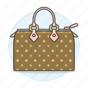 accessory, bags, brown, clothes, designer, handbag, pattern, purse, small icon