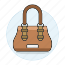 accessory, bags, brown, clothes, designer, handbag, purse, small icon