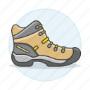 1, accessory, boots, brown, clothes, explorer, footwear, shoes, short icon