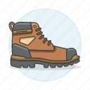 2, accessory, boots, brown, clothes, explorer, footwear, shoes, short icon