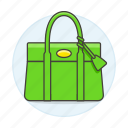 accessory, bags, clothes, designer, green, handbag, purse, small icon