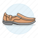 2, accessory, brown, clothes, footwear, leather, moccasin, shoes icon