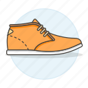 3, accessory, brown, clothes, footwear, leather, light, shoes, suede icon