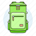 accessory, backpack, bag, clothes, green, light, luggage