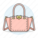 accessory, bags, clothes, designer, handbag, pink, purse, small icon