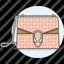 accessory, bags, clothes, designer, handbag, pattern, purse, salmon, small icon