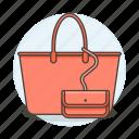 accessory, bags, clothes, designer, handbag, purse, salmon, small, wallet