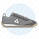 1, accessory, black, clothes, dark, footwear, gray, shoes, sneakers icon