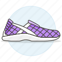 accessory, clothes, footwear, purple, running, shoes, sneakers, violet icon