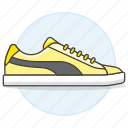 accessory, clothes, footwear, shoes, sneakers, yellow icon